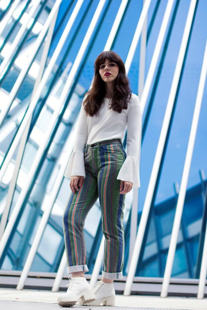 pantalon rayé vintage 8