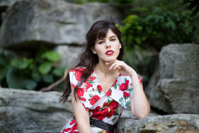 Robe pinup roses rouges 04