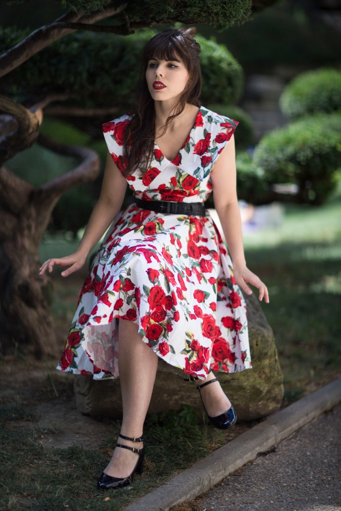 Robe pinup roses rouges 05