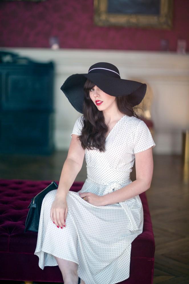 Robe retro Karina blanche1