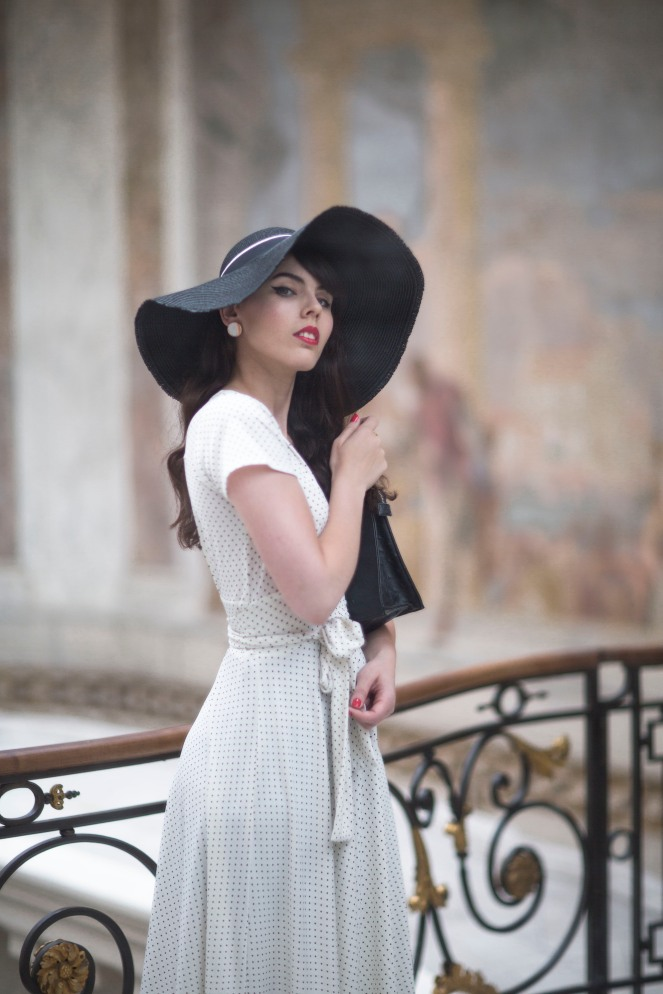 Robe retro Karina blanche11