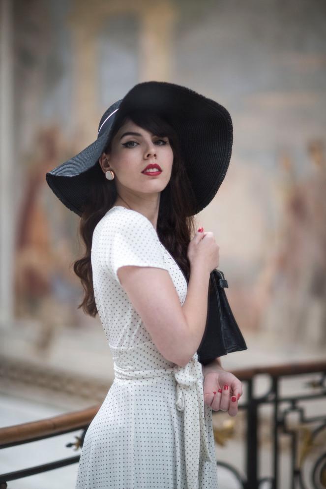 Robe retro Karina blanche12