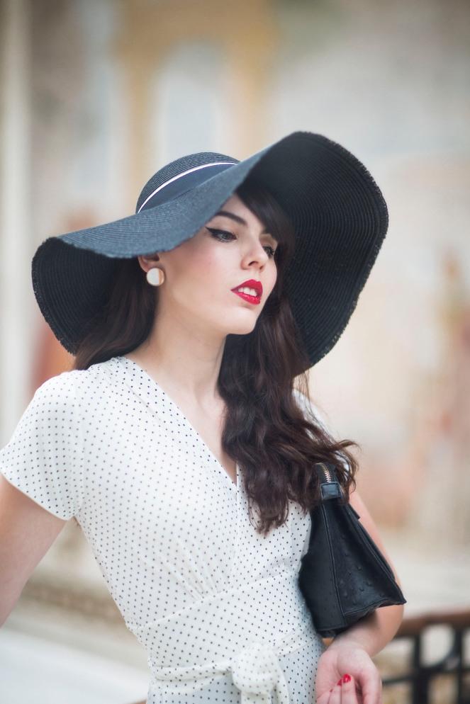 Robe retro Karina blanche13