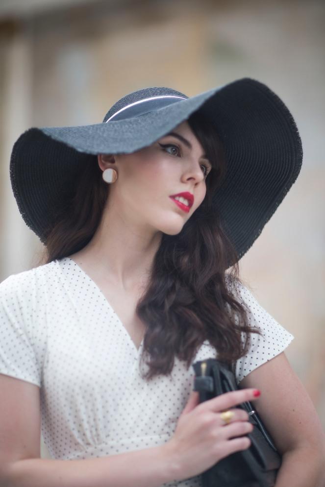 Robe retro Karina blanche14