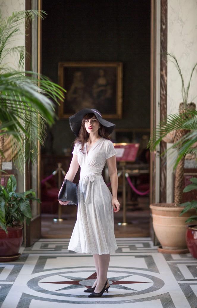 Robe retro Karina blanche4