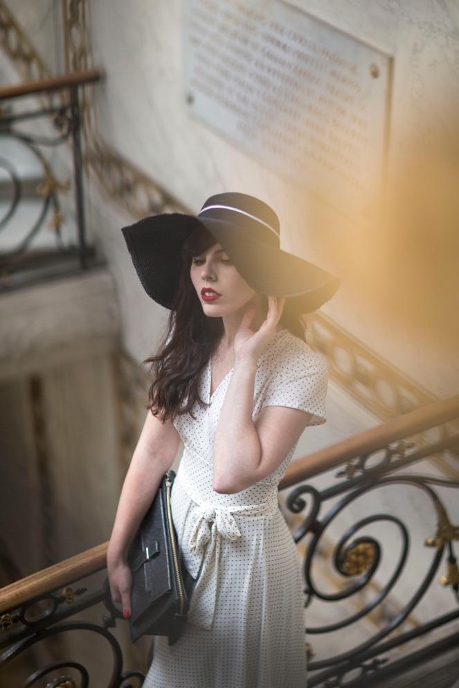 Robe retro Karina blanche5