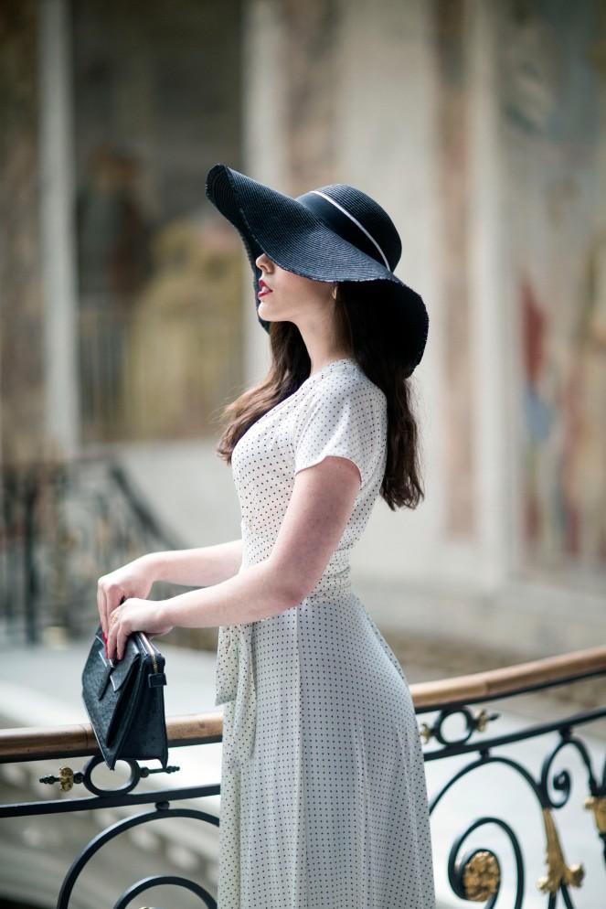 Robe retro Karina blanche9